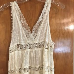 Free people intimates top! 🌟white/cream lace🌟